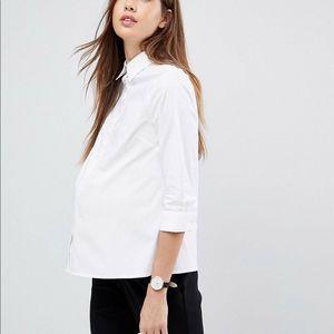 BNWT ASOS Maternity 3/4 sleeve dress shirt